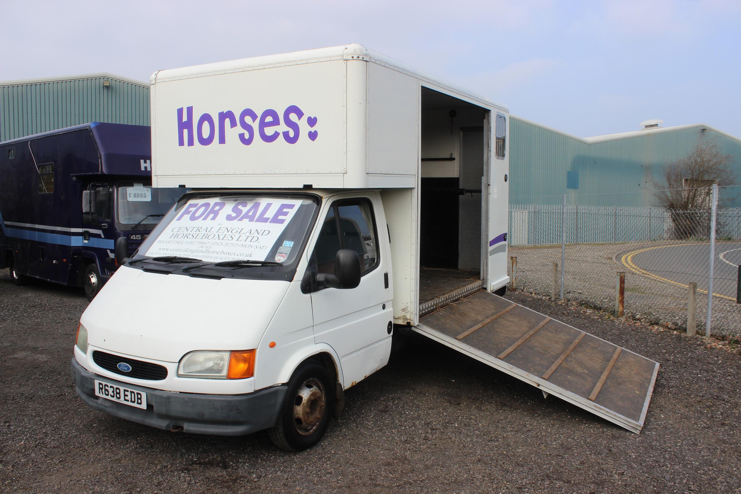 **CLEARANCE** TRANSIT 3.5 Ton Horsebox