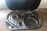 5 berth horsebox sink