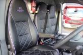 purple horsebox cab