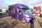 purple horsebox front
