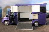 purple horsebox open