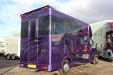purple horsebox rear