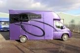 purple horsebox side