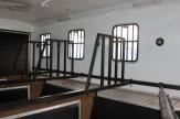 black horsebox stalls